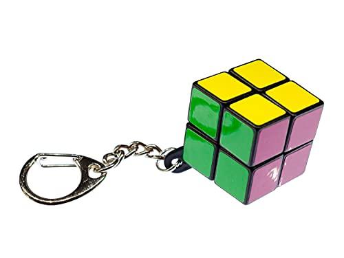Miniblings Cubo de Rubik llaveros rotación Cubo Dados Juego 2er 2x2 - Hecho a Mano Joyas de Moda I I Colgante Llavero Llavero