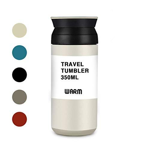 LIUMY Thermobecher Isolierbecher Kaffee to go Travel Mug Edelstahl 350 ml Doppelwandig vakuumisolierter Coffe und Tee zum Mitnehmen Autobecher