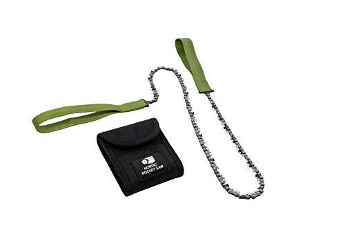 Nordic Pocket Saw Sierra de Mano - Motosierra de Mano - Sierra de Cadena 93 cm con Asas de Nailon - Sierra Manual para 2 Personnas - Sierra Supervivencia Acampanda - Versión X-LONG 50 Dientes