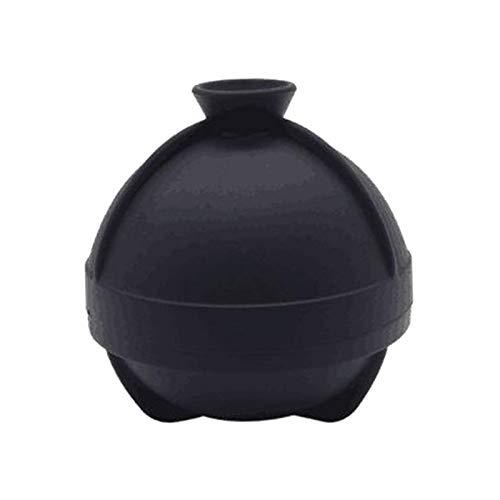Amuzocity Molde para Helado de Cuchara Grande, Cubo de Hielo de Esfera de Silicona de 2,5 Pulgadas