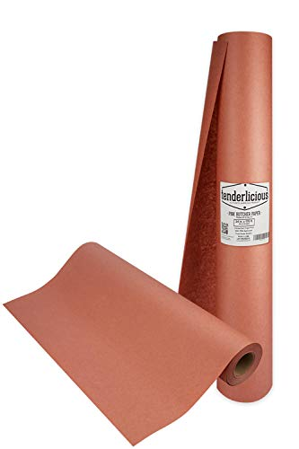 Pink Butcher Paper Roll - 24 ' x 175 ' (2100 ') Peach Wrapping Paper for Beef Briskets - USA Made - All Natural Approved Food Grade BBQ Meat Smoking Paper - Unbleached Unwaxed Uncoated Sheet Kraft