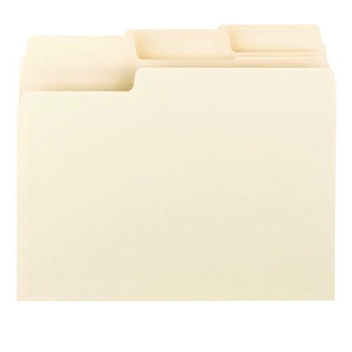 Smead Erasable SuperTab File Folder, Oversized Erasable 1/3-Cut Tab, Letter Size, Manila, 24 per Pack (10380) Photo #3