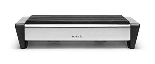 Brabantia Food Warmer, 2 Burner - Matt Steel with Black Grille