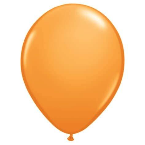 Globo Qualatex Redondo 13cm Pastel Naranja