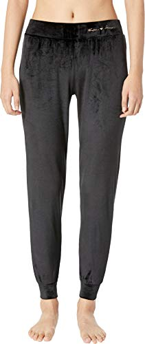Emporio Armani Damen Pants with Cuffs Hose (L, 00020 Black)