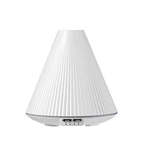 raumbefeuchter kinderzimmer - Ultraschall-Aromadiffusor für Schlafzimmer-Desktop-Weiß