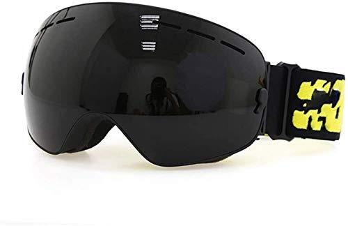 HEDC Gafas de esquí de OTG Ajustables UV400 Protección Snow Snowboard Goggle Intercambiable sobre Gafas con Anti-Niebla esférica Dual Intercambiable Lens para Hombres Mujeres Jóvenes 21-412