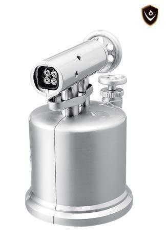 VECTOR KGM Quad Pump Table Top Quad Torch Lighter (Chrome Satin)
