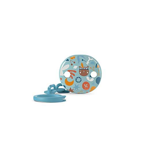 Suavinex 307539, Clip Portasucchietto per Neonati +0 Mesi, Catenella per Ciuccio Bambino, Azzurro - 29 g