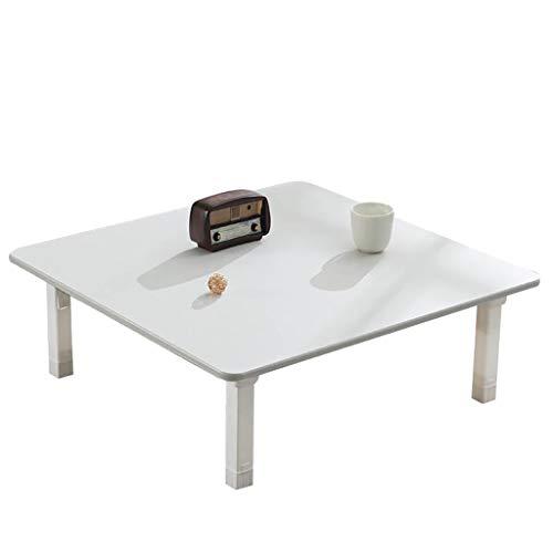 Mesa plegable, estilo japonés, mesa de café, mesa de comedor, escritorio pequeño, para dormitorio tatami, ventana de bahía, sala de té, 5 colores (color: C, tamaño: 60 cm)