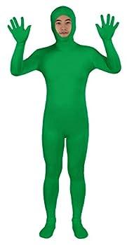 Sheface Spandex Open Face Zentai Suit Halloween Costumes  XXX-Large Green