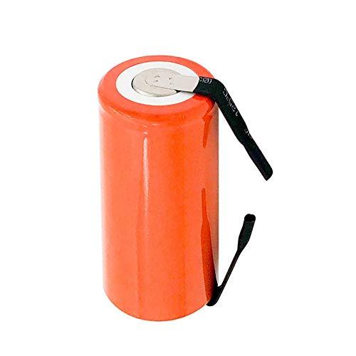 CNMMGL Batería De 1.2v 2800mah SC Ni-CD, Pilas De Repuesto De Batería Recargable con LengüEta Y Cable De Extensión Procesado 20pcs