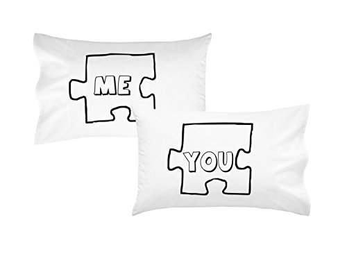 Oh, Susannah Puzzle Piece Couples Pillowcases Ideal Long Distance Relationship Gift Boyfriend Girlfriend Present His & Hers Wedding (2 Standard/Queen Pillowcases) Im Sorry Gifts