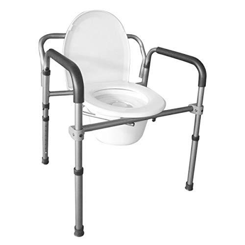 Intermed–Silla con inodoro, 4en 1,plegable, de aluminio