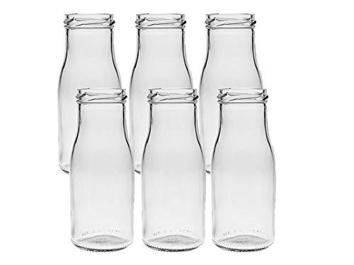 Vitrea 6/12/24 Unidades Redondas de Tipo 156. Mini jarrones de Cristal pequeños frascos Decorativos, jarrones de Cristal, Botellas de Cristal, 6 Unidades