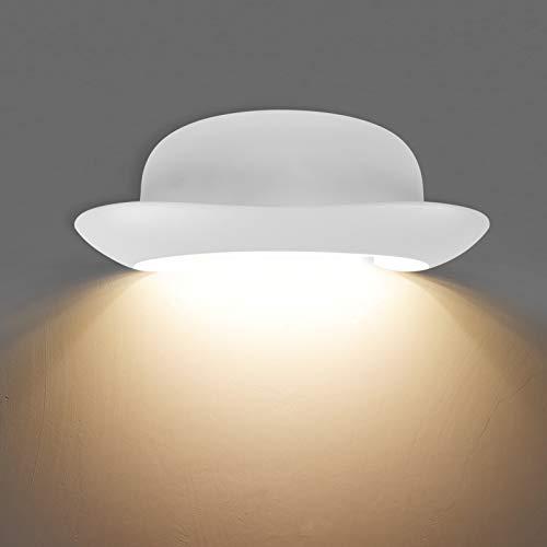 KAWELL Creativo 12W Moderno Luz de Pared LED Apliques de Pared Impermeable IP65 Aluminio LED Bañadores de Pared Interior Exterior para Baño Porche Pasillo Escaleras Dormitorio Sala KTV, Blanco 3000K