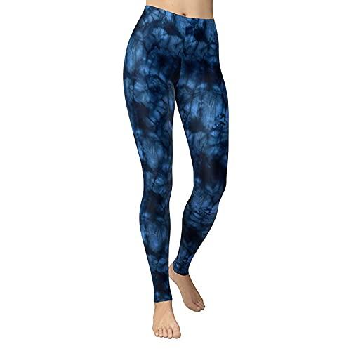 YANFANG Pantalones de chándal Leggings de Cintura Alta con Estampado de Camuflaje de Moda Sexy para Mujer Pantalones de Yoga Delgados,3-Azul,XL