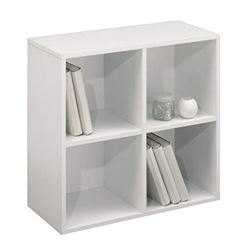 MEKA-BLOCK Scaffale a 4 fori, bianco, 75 x 75 cm