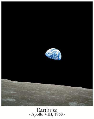 WallBuddy Earthrise Foto Erdaufgang Druck Raumdruck Raumdekor (11,7 x 16,5 (A3))