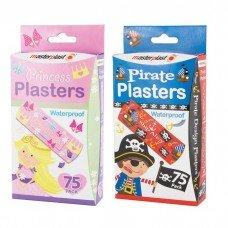 150 wasserdichte Pflaster/2 Packungen, 75 Prinzessin 75 Pirat