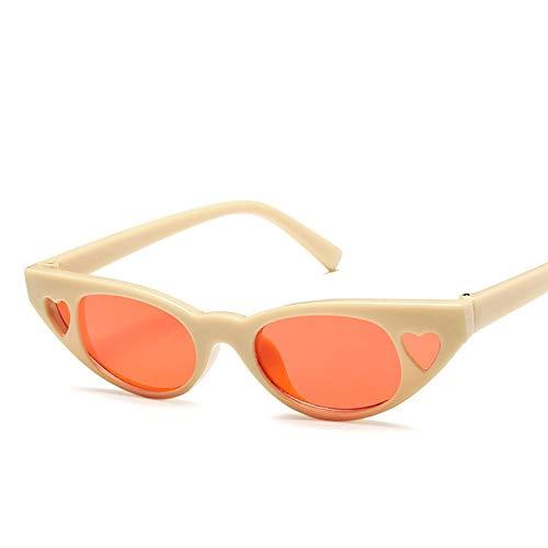 TYJYY Sunglasses Vintage Femmes Lunettes De Soleil Cat's Eye Luxe Marque Designer Lunettes De Soleil Rétro Petit Rouge Dames Lunettes De Soleil Lunettes Noires