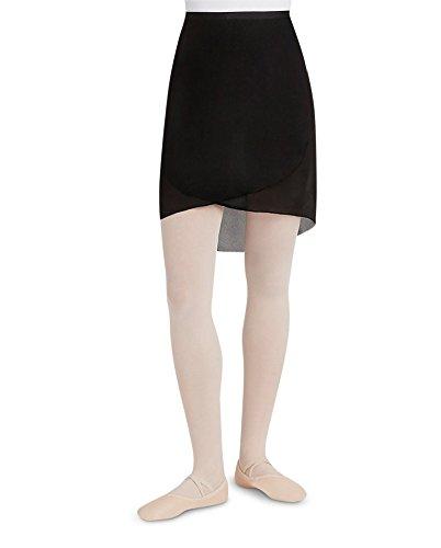 Capezio Georgette Long Wrap Skirt - Size Medium/Large, Black