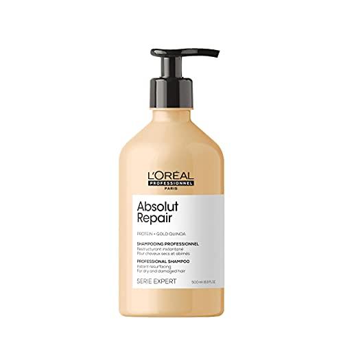 L'Oréal Professionnel | Shampoing Réparateur pour Cheveux Secs et Abîmés, Absolut Repair, SERIE EXPERT, 500 ml