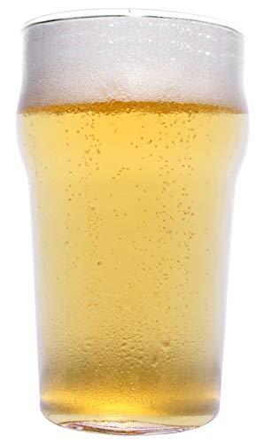 Monsterzeug Halbes Bierglas, Half Pint, Scherzartikel, Spaßgeschenke Bier, Gag Artikel aus Glas, Höhe 15 cm