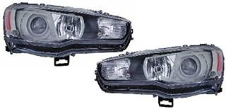 Mitsubishi Lancer Evolution 09-11 Projector Jdm Black Halogen Headlight Lamp Set