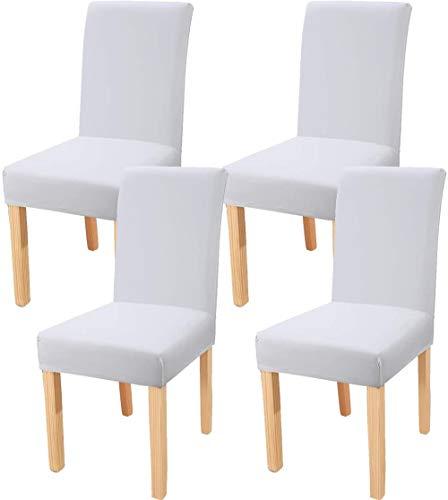 Mazu Homee cubierta elástica de la silla de comedor, cubierta de la silla del restaurante desprendible y lavable, cubierta de la silla del spandex, cubierta de la silla