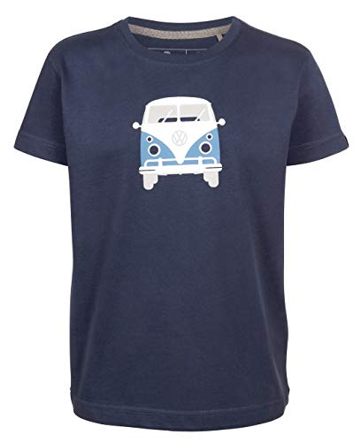 Elkline Kinder T-Shirt Teeins mit VW Bulli Print, Farbe:darkblue, Größe:128/134