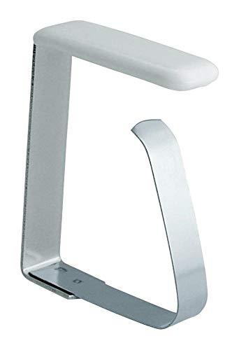Home Xpert Lot de 4 pinces fixe-nappes En acier inoxydable Disponible en plusieurs dimensions für Tischplatten bis 45 mm
