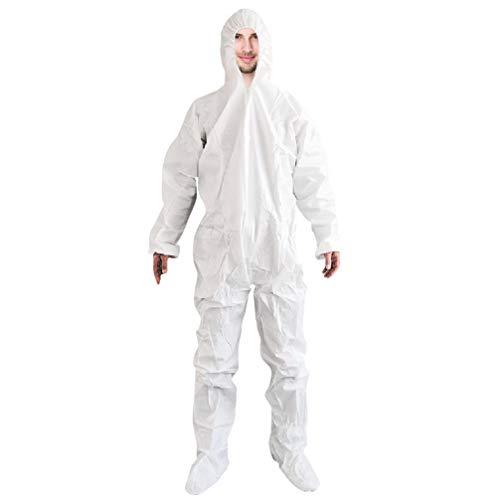 PRETYZOOM Witte Overall Met Capuchon Eendelige Tuinbroek Voor Heren Beschermend Pak Maat Xl
