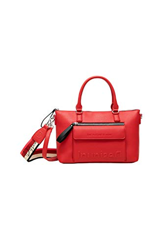 Desigual PU Hand Bag, Borsa a Mano. Donna, Rosso, U