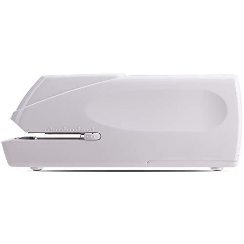 LYzpf Électrique Agrafeuse Capacité De 20 Feuilles Utilisations 24/6-26/6 Pratique pour Organiser Les Fichiers éTudiant en Bureau Domicile,White