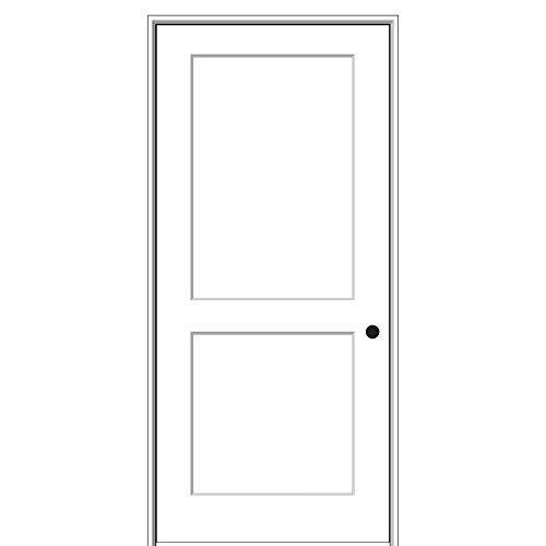"""National Door Company ZZ364468L Solid Core, Molded, Craftsman 2-Panel Flat, Left Hand, Prehung Interior Door, 28""""X80"""", on 4-9/16"""" Jamb, Left Handed, Mdf, 80"""" Height"""
