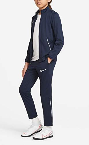 Nike Dri-Fit Academy, Tuta Sportiva Unisex-Adulto, Ossidiana/Bianco/Bianco, L
