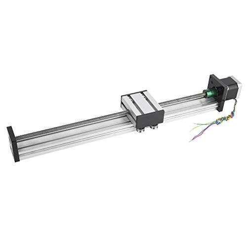 Mesa deslizante de guía lineal de tornillo de bola con 42 motores paso a paso para fresadora de enrutador CNC(600mm Stroke)