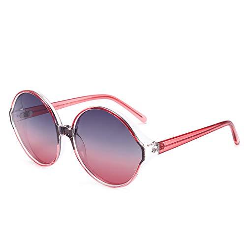 Minicocock Vacaciones Hombres de Las Mujeres al Aire Libre de Gran tamaño de conducción Protección UV único Marco Colorido de Las Gafas de Sol (Color : Red)