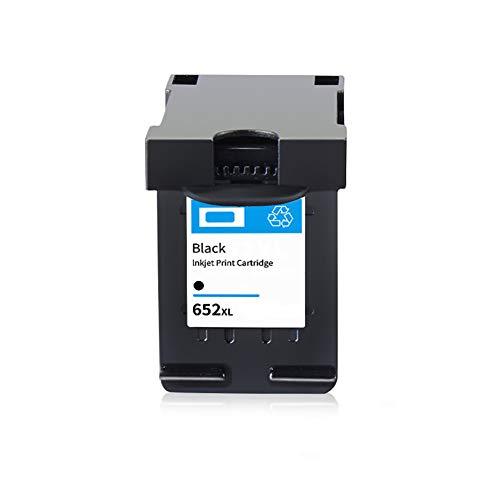 652XL Cartucho de tinta fabricado, reemplazo compatible para HP Deskjet Ink Advantage 1115 1118 2135 2136 2138 3635 impresora de inyección de tinta, gran capacidad-A1-black