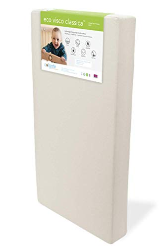 Eco Visco Classica Foam Crib & Toddler Mattress by Colgate Mattress | Supportive Memory Foam | Dual Firmness | Easy-to-Clean Damask Cover