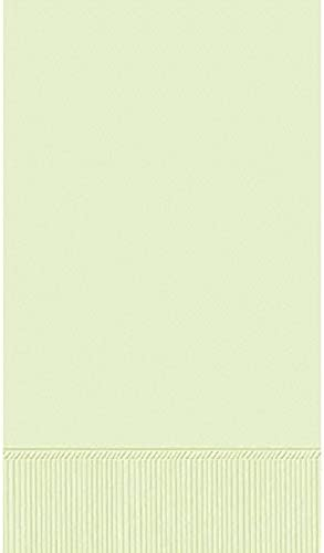 Amscan Party Perfect Disposable 3-Ply Guest Towel, vert, 7.9 x 4.5