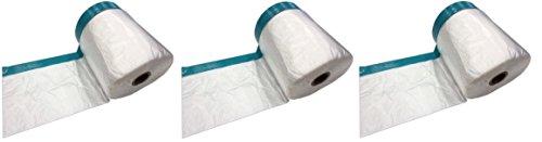 Profi Masker Tape mit Gewebeband 140cm Folie x 20m | UV-beständig | Abdeckfolie, Folien-Masker mit Steinband, Kombi Mask Tape, Folie mit Klebeband (3)
