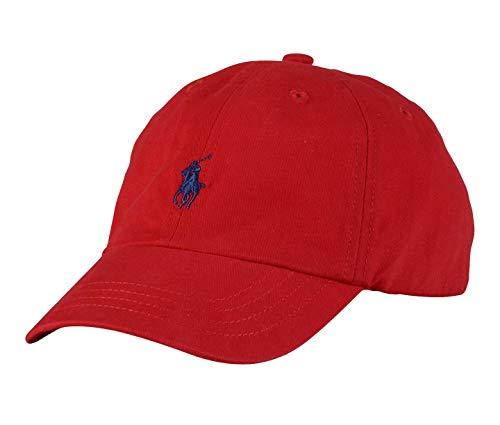 Ralph Lauren Boys Polo Baseball Cap (Size 8/20) (Red/Navy Blue Logo)