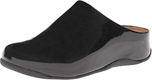 Fitflop Damen Shuv Tm Patent Slip On Sneaker, Schwarz (Black 001), 39 EU
