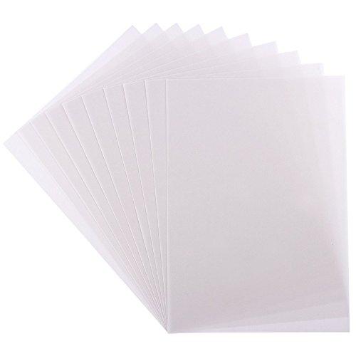 10 Transparentpapiere, DIN A4, weiß, 170g/qm, Premium-Qualität, extra hohe Grammatur | ideal zum Basteln, Scrapbooking, Kartengestaltung, Hochzeitskarten, Menükarten, DIY u.v.m.