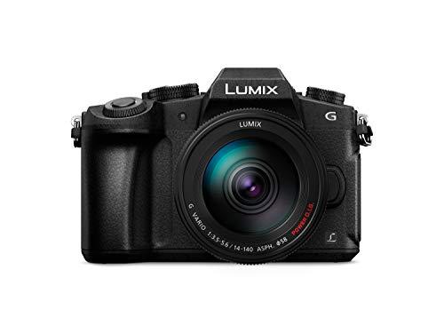 """Panasonic Lumix DMC-G80HA - Cámara EVIL de 16 MP (pantalla de 3"""", estabilizador optico de 5 ejes , Visor OLED, RAW, Wifi, 4K) - kit con objetivo Lumix Vario 14 - 140 mm/F3.5-5.6 II, color negro"""