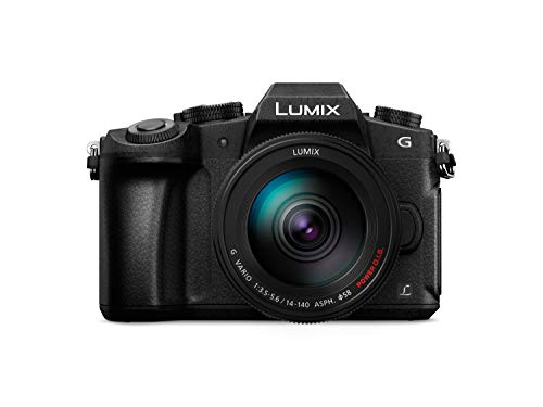 "Panasonic Lumix DMC-G80HA - Cámara Evil de 16 MP (Pantalla de 3"", estabilizador Optico de 5 Ejes, Visor OLED, Raw, WiFi, 4K) - Kit con Objetivo Lumix Vario 14-140 mm/F3.5-5.6 II, Color Negro"