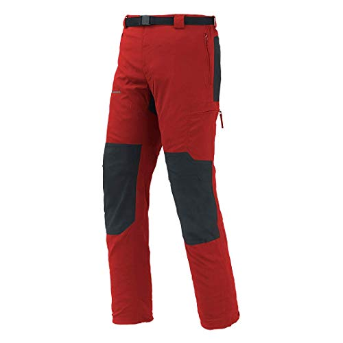 Trangoworld Zayo Fi Pant. Largo, Hombre, Rojo/Negro, XL
