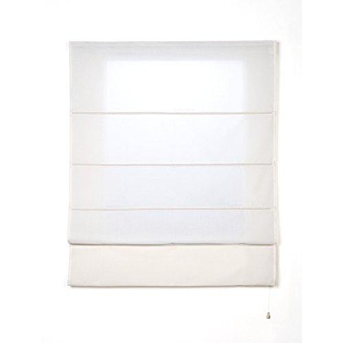 CINTACOR Estor Plegable con Varillas Blanco 90x250 cm